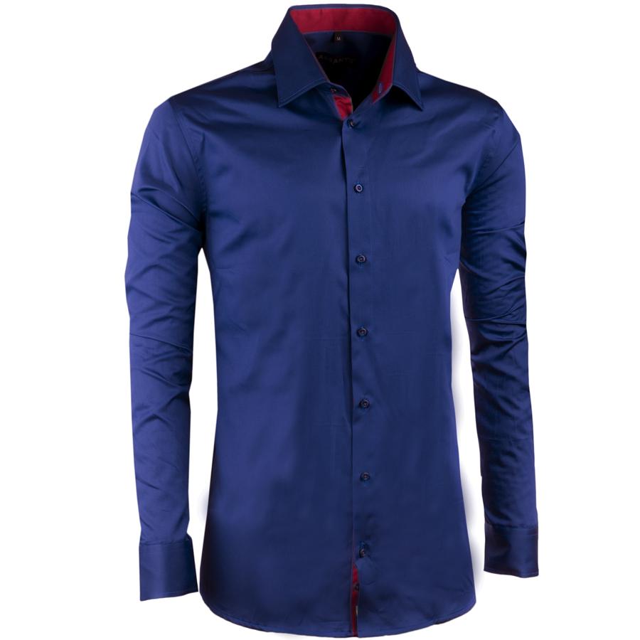 Modrá košile slim