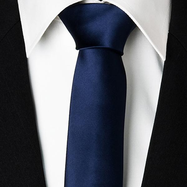 modrá kravata slim