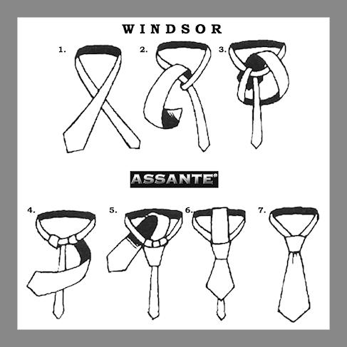 /vázání kravaty postup