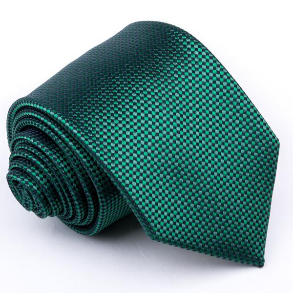 zelená kravata puntíkovaná