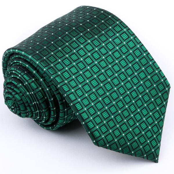 zelená kravata vzorovaná